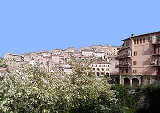 View across Anagni town