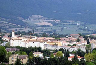 Fortified walls and town of Norcia