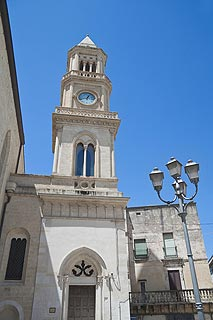 Clock tower in Altamura center