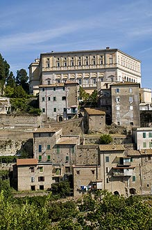 view of caprarola village and palace above