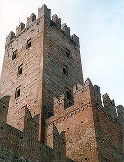 castel towers of the visconto castle in Castello'Arquato