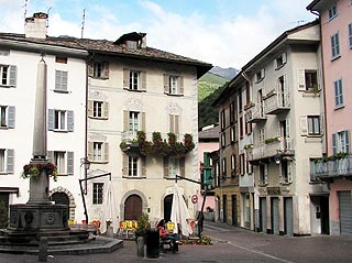 Square in the centre of Chiavenna