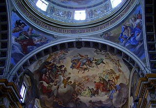 Fresco in the cathedral dome