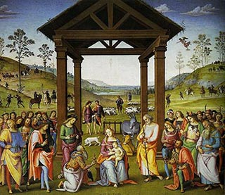 Painting by Perugino in Citta Della Pieve, Italy