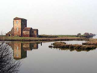Salt flats at Comacchio