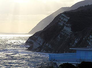 Coast cliffs in Monte Conero natural park
