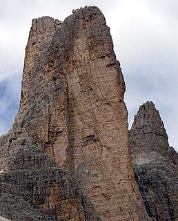 Rock in the Drei Zinnen region of the dolomites