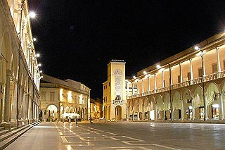 Old town centre in Faenza