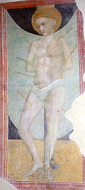 Fresco in the Church of San Agostino, Fermo, Italy