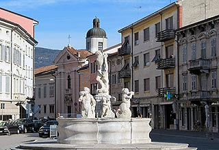 Victor square in central Gorizia