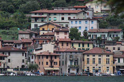 Lake Iseo - scenic Lombardy lake in Italy