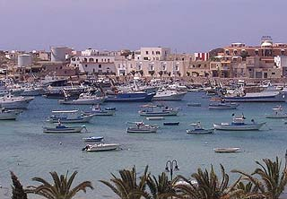Traditional harbour in Lampedusa