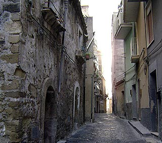 Quiet street in Mineo old town