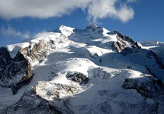 Face of Monte-Rosa mountain in Italy