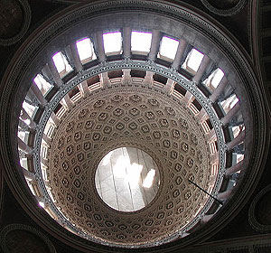 Inside the cupola of the duomo in Novara