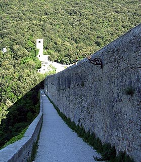Fortified walls in Spoleto