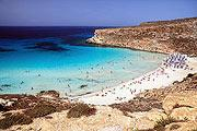 Rabbit beach on Lampedusa