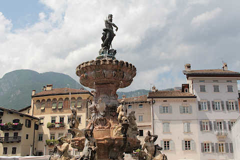 Trento Italy vibrant town with numerous historical monuments