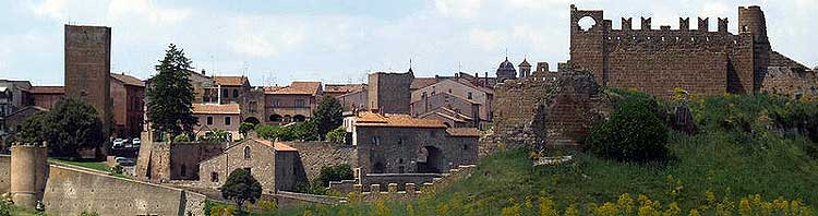 View across the town of Tuscania