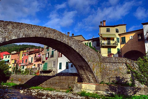 Varese Ligure Italy is an unusual circular medieval town in the