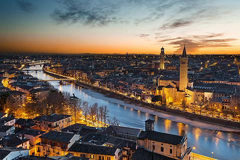 Verona, Italy, historical masterpiece and home to Romeo