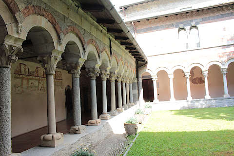 Cloisters of the abbey at Piona