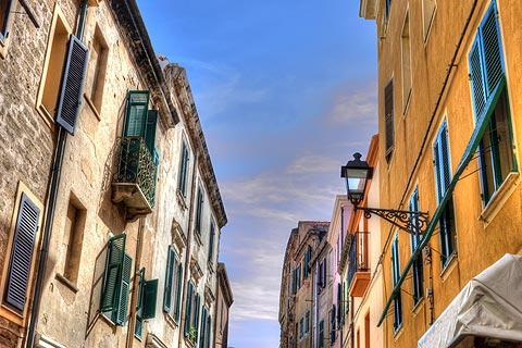 Pretty street in Alghero old town