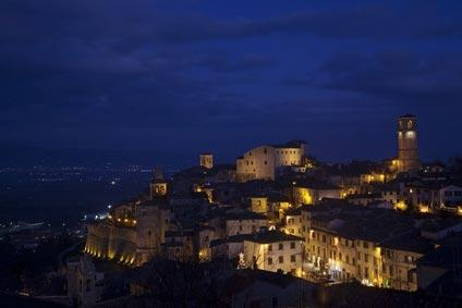 view of Anghiari at night