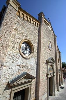 Church facade in Asolo old town