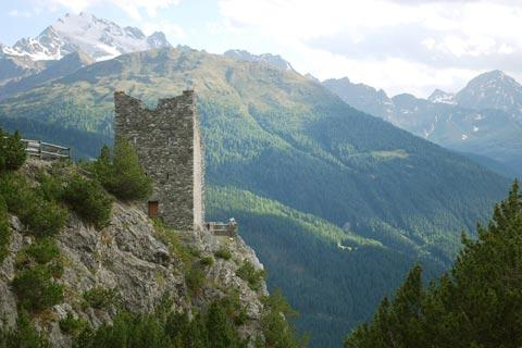 Fraele Tower in mountains