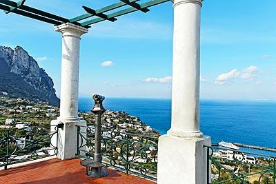 The Piazzetta is a small square in Capri town with exceptional coastal views