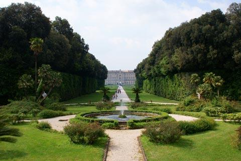 Very extensive gardens at Royal Palace of Caserta