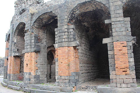 The ancient theatre in Catania