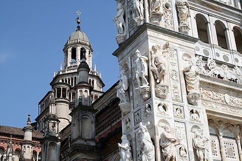 Facade and church of the Certosa