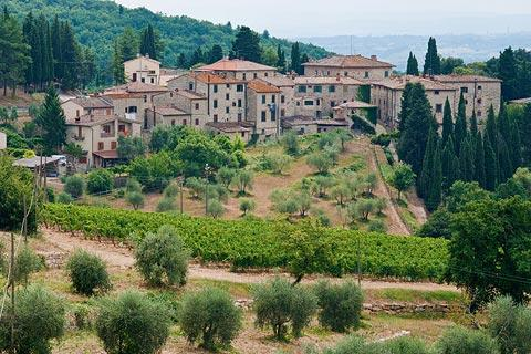 Village of Castellina in Chianti