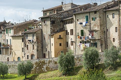 Medieval houses in Colle di Val d'Elsa