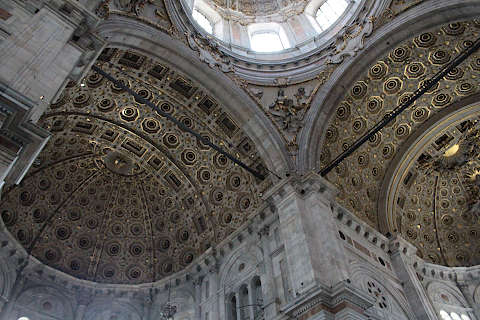 Inside the dome of Como cathedral