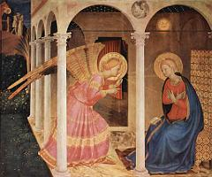 The Annunciation by Fra Angelico, Cortona