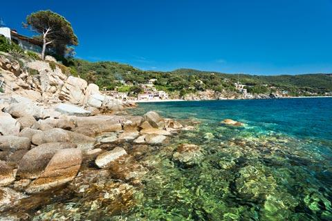 Forno beach on Elba island, Italy