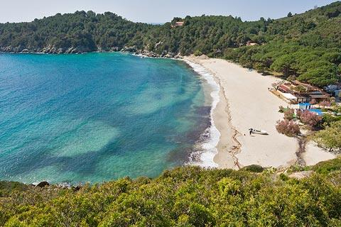 Lovely Elba beach of Fetovaia at Marina di Campo