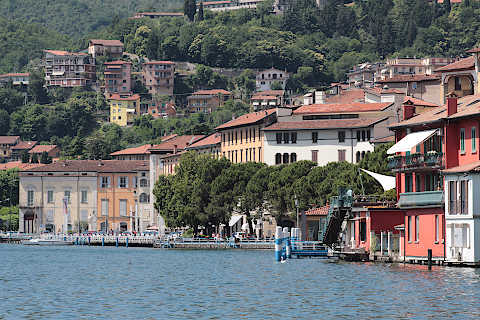 Lake front promenade along the shores of Lake Iseo in Lovere