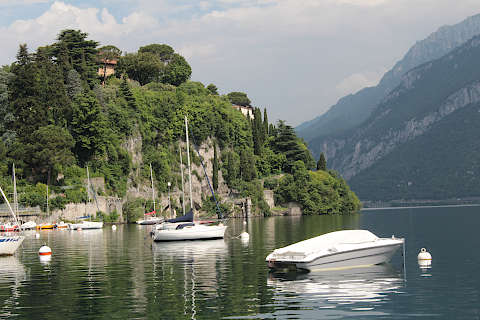 Views across Lake Como at Malgrate