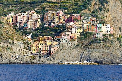 View of Manarola from the sea