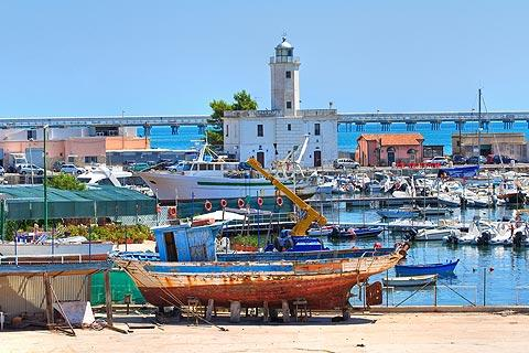Fishing harbour of Manfredonia