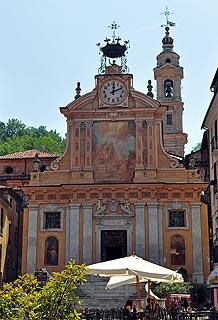 Church and piazza in centre of Mondovi