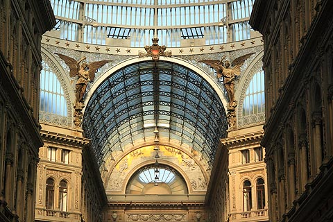 Galleria Umberto shopping centre in Naples