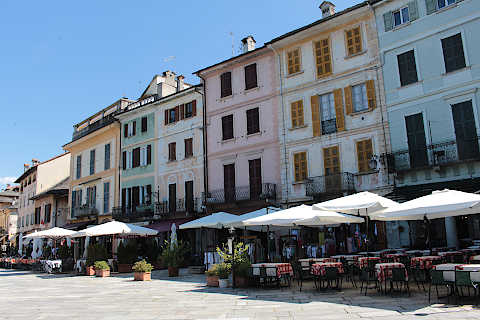 Main square in centre of Orta San giulio