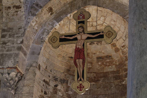 Crucifix in the Palermo Church of San Cataldo