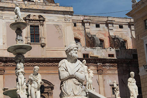 Piazza Pretoria in the heart of Palermo