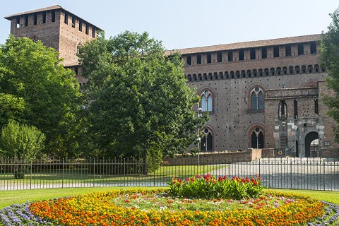 The Castello Vincenteo in Pavia